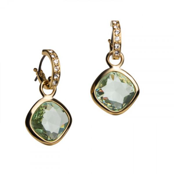 Kreolen mit grünem Swarovski® Crystal