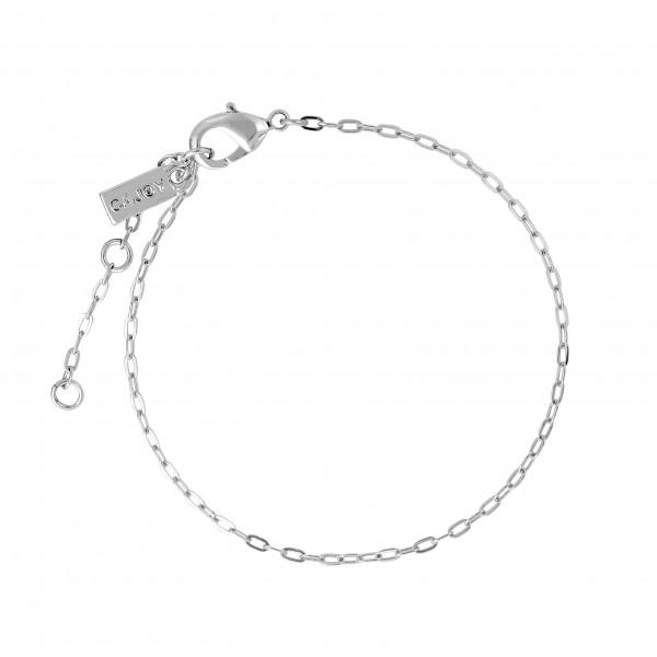 Fußkettchen Chain-Cajoy, rhodiniert
