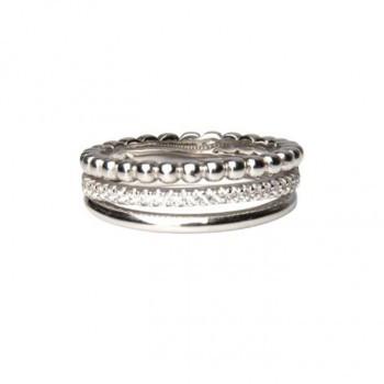 3-Facher Ring, rhodiniert