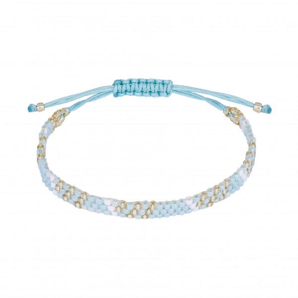 Armband handgeknüpft hellblau