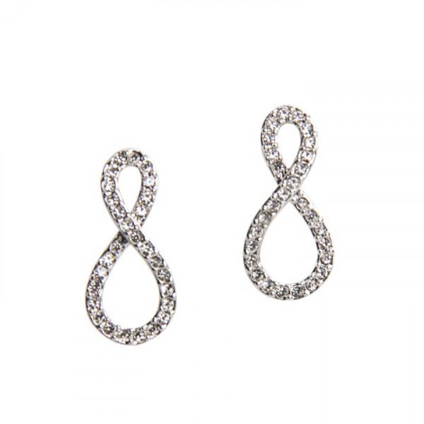 Ohrringe Infinity Kristalle R