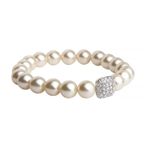 Perlenarmband mit Kristallen
