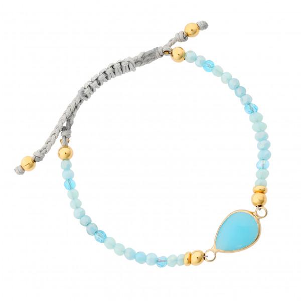 Armband mit türkisem Stein