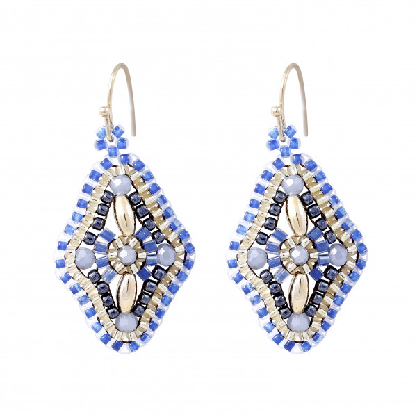 Boho Rhombe Blue/Gold