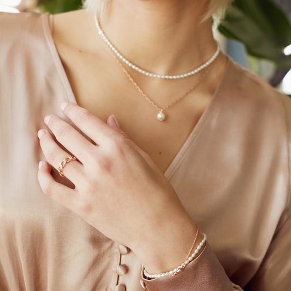 Gliederkette mit Perle