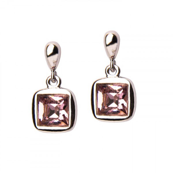 Ohrhänger mit rosa Kristall