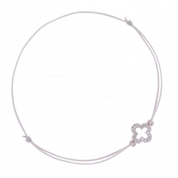 Armband Kleeblatt+Kristalle