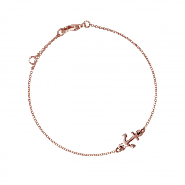 Armkette Anker, rosé vergoldet
