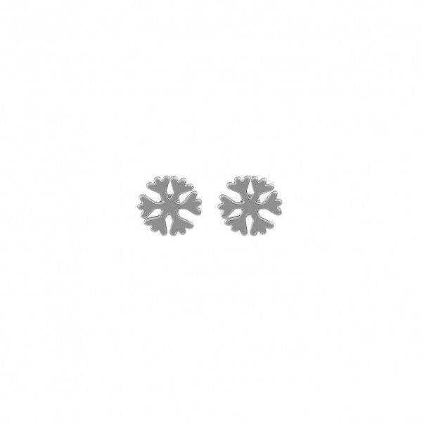 Schneeflocken Ohrstecker Mini R