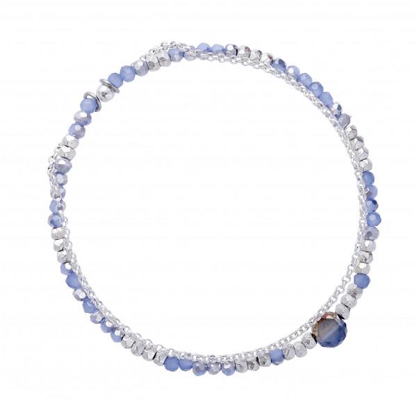 Armband hellblau mit Kette