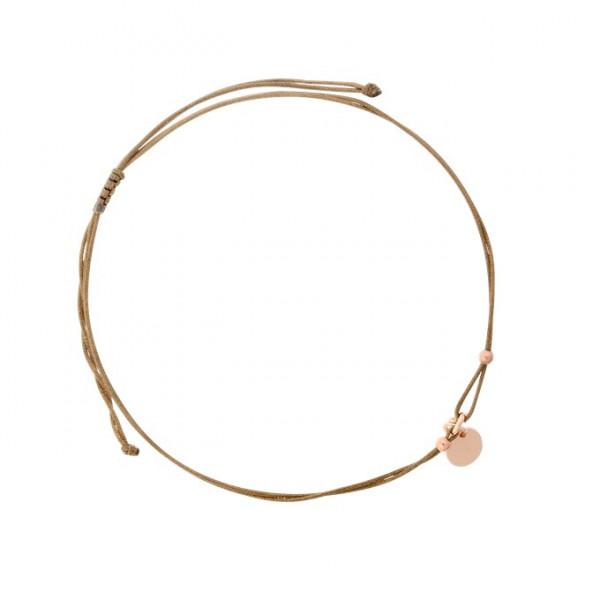 Armband m. Badges, rosé vergoldet