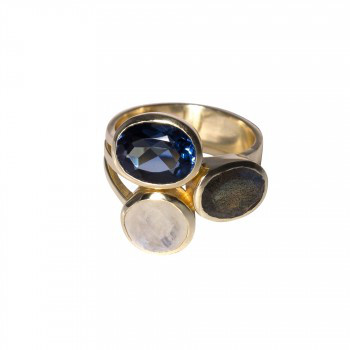 Ring Mondstein & Labradorit