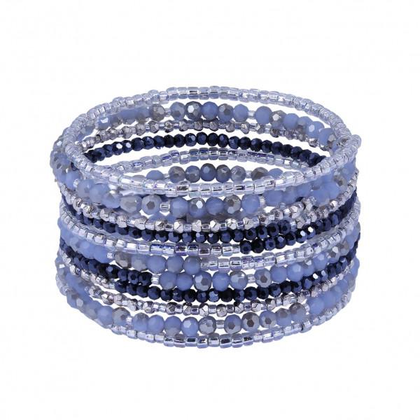 Drahtarmband Dark Blue Silver