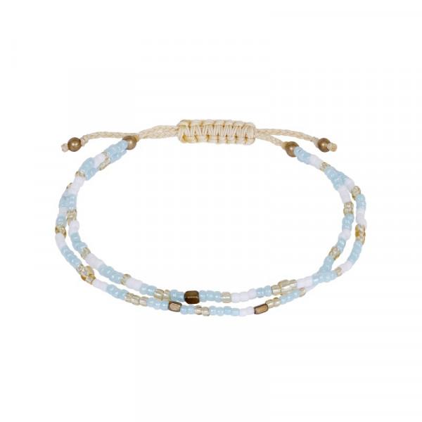 Armband 2-reihig hellblau