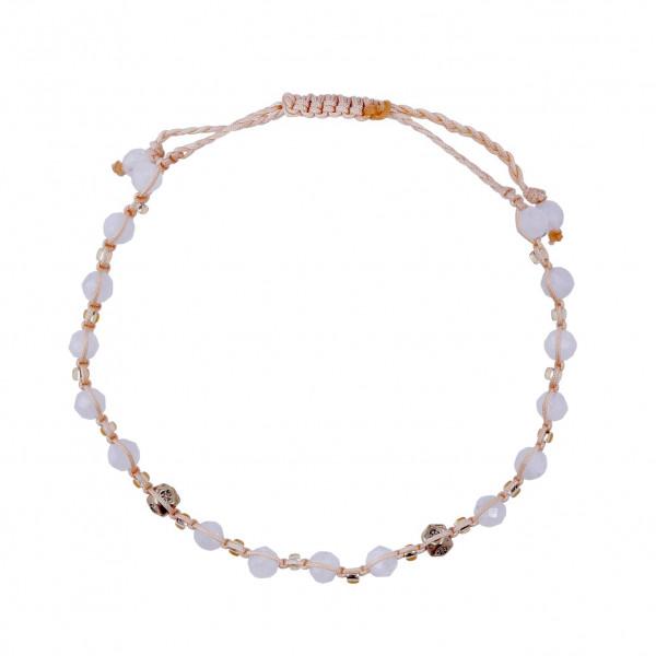 Armband weiße Steine