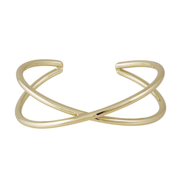 X-Armspange, vergoldet