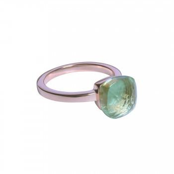 Ring mit grünem Kristall