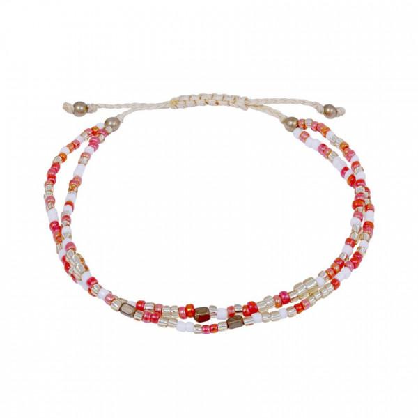 Armband 2-reihig koralle