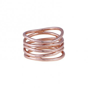 Wave Ring, rosé vergoldet