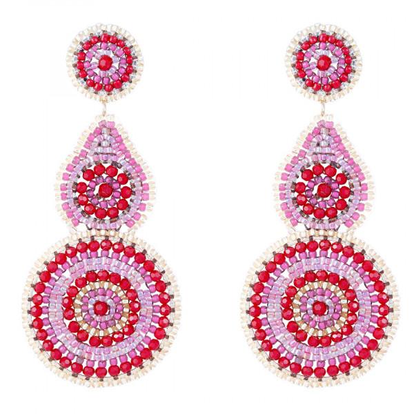 Boho Red/Pink Drops