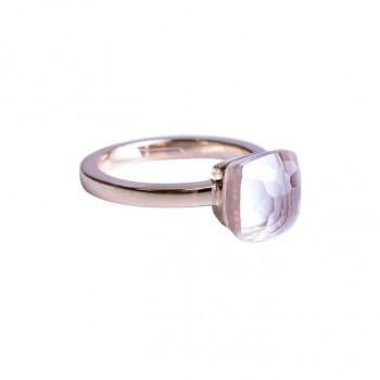Ring mit weißem Kristall