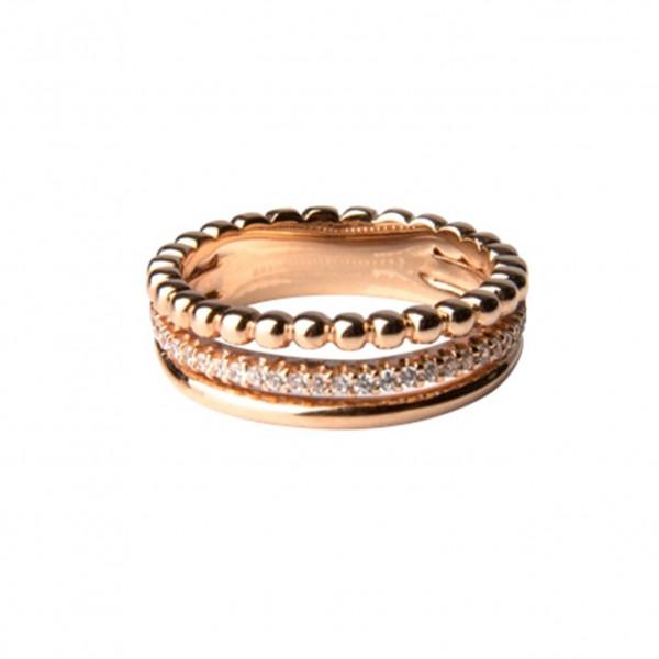 3-Facher Ring, rosé vergoldet