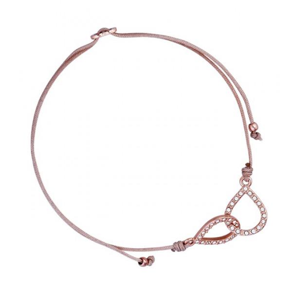 Armband Knoten mit Kristallen