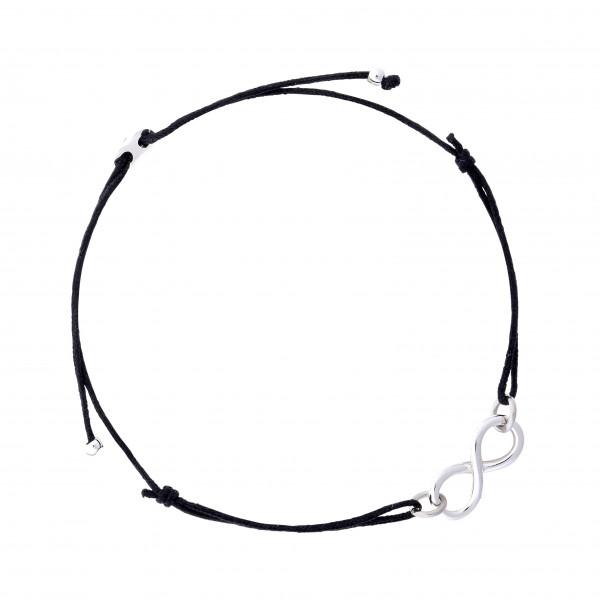 Armband Infinity Schwarz