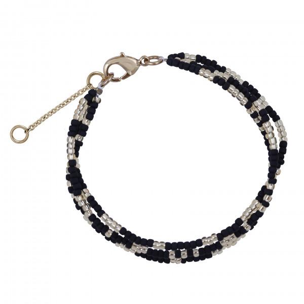 Armband 3 schwarz/gold