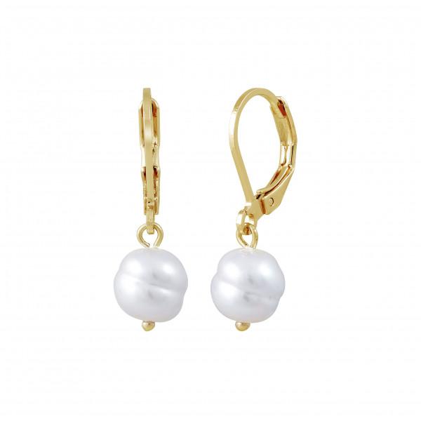 Kreole mit Perle, vergoldet