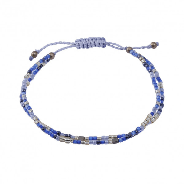 Armband 2-reihig dkbl/Gold