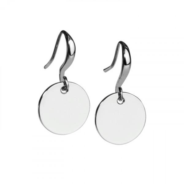 Ohrring-Badges rhodiniert
