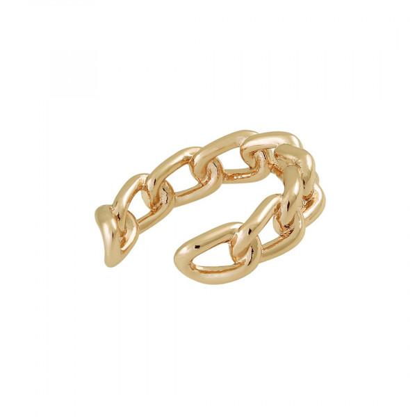 Ear Cuff Link Chain vergoldet