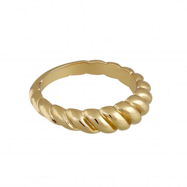 Gedrehter Ring, vergoldet