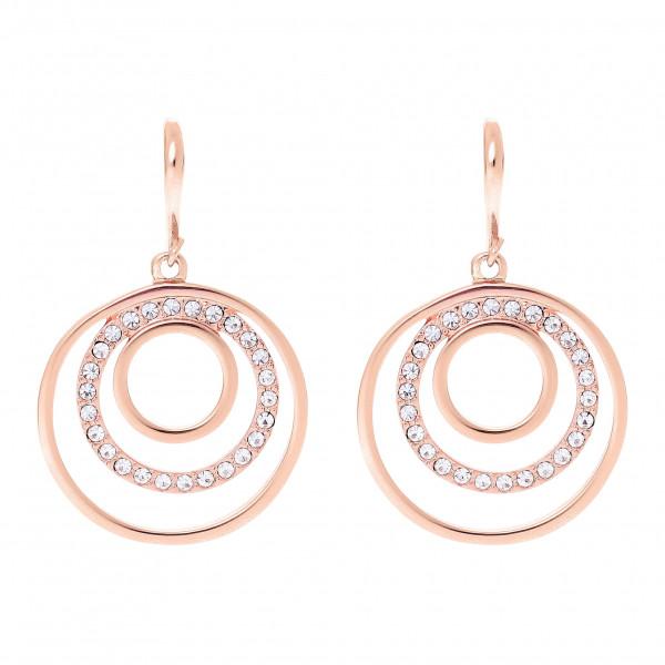 Ohrring 3-Kreise mit Kristallen