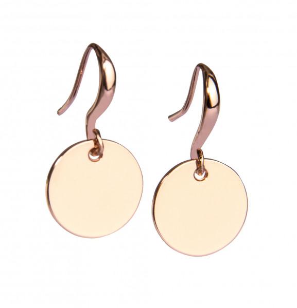 Ohrring-Badges rosé vergoldet