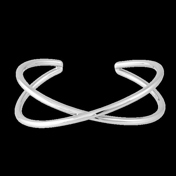 X-Armspange, rhodiniert