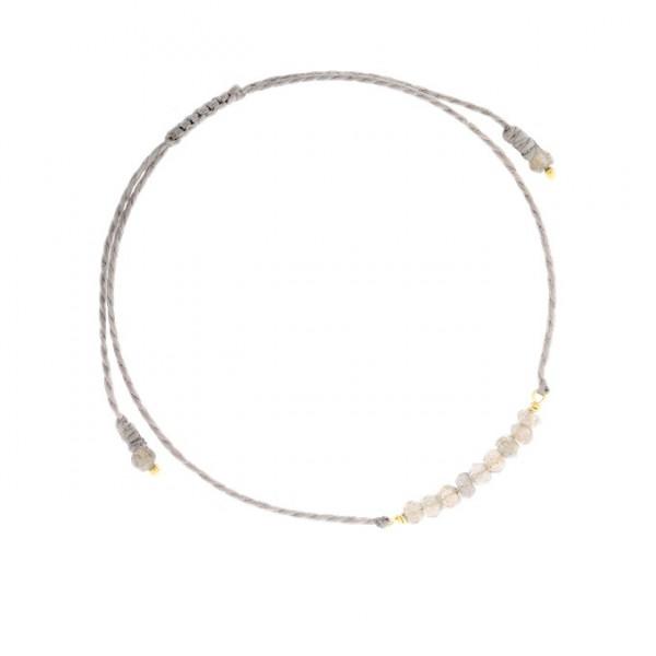 Armband Perlen/Grau