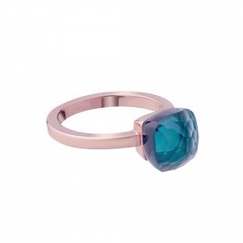 Ring mit blauem Kristall