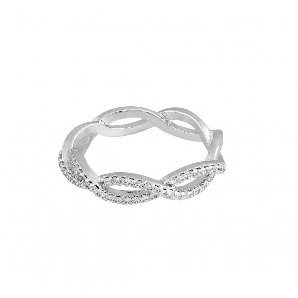 Twisted Ring mit Kristallen