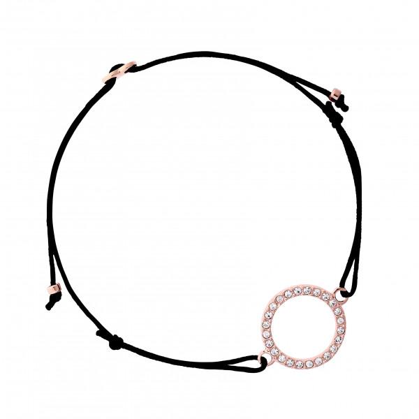 Armband Kristallring, rosé vergoldet