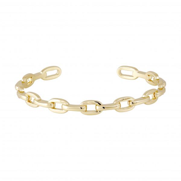 Armreifen Chain, vergoldet