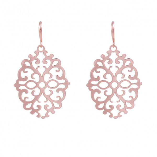 Ornament-Ohrringe, rosé vergoldet