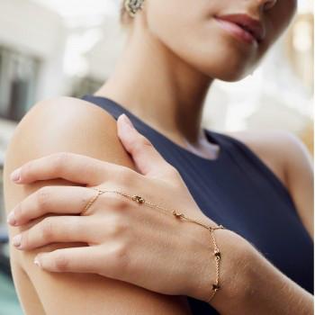 Kombination Ring/Armkettchen/Sterne gold