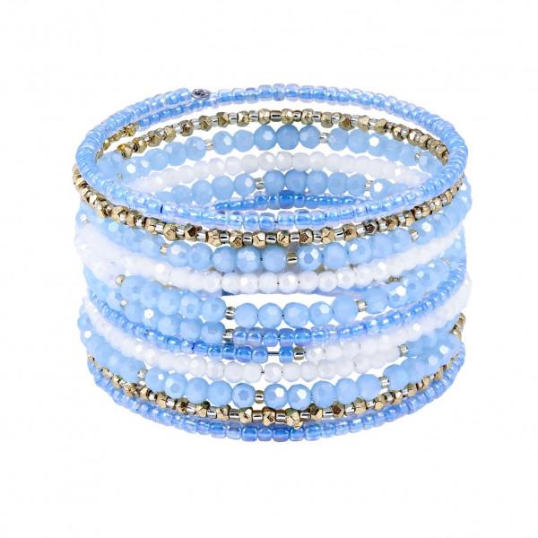 Drahtarmband Blue White Gold