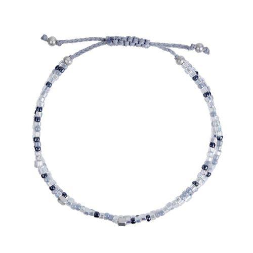 Armband grau Perlen
