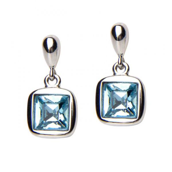 Ohrhänger mit blauen Kristall