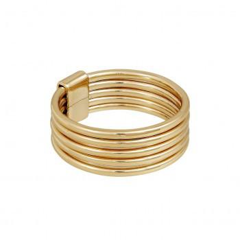 Vergoldeter 5fach Ring