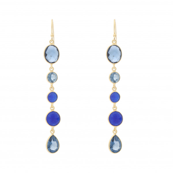 Ohrring blaue Steine G