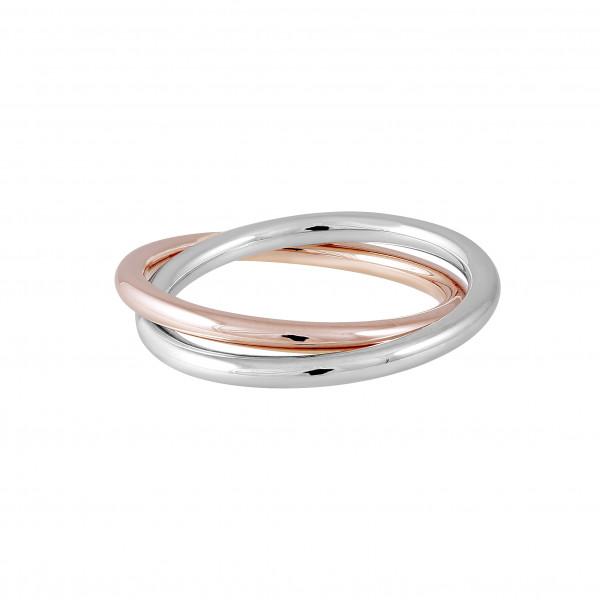 Verwobener Ring rosé/rhodiniert